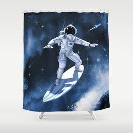 Star Surfer One Shower Curtain