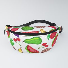 Tutti Fruity Hand Drawn Summer Mixed Fruit Fanny Pack