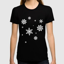 Snowflakes | Black & White T-shirt