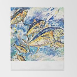 Golden Tuna Throw Blanket