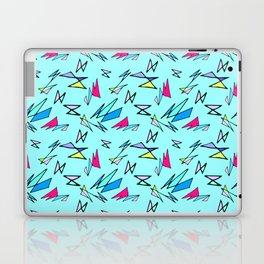 Wacky 80s//BLUE//Geo Pattern #3 Laptop & iPad Skin