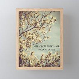 Wild & Free Framed Mini Art Print