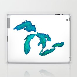watercolor Great Lakes Laptop & iPad Skin
