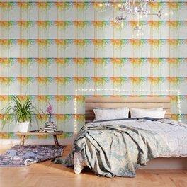 Rainbow Watercolor Pattern Texture Wallpaper