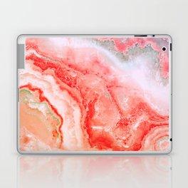 Luxury Rose Gold Agate Marble Geode Gem Laptop & iPad Skin