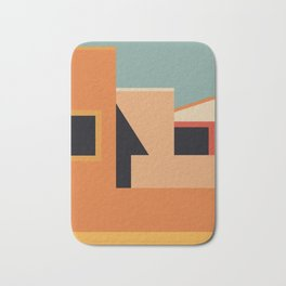 Summer Urban Landscape Bath Mat