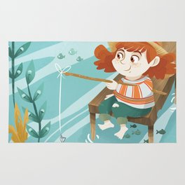 Giadina goes to fishing Rug