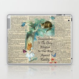 Alice In Wonderland Quote - Imagination - Dictionary Page Laptop & iPad Skin