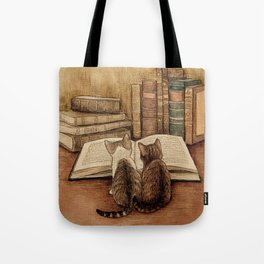 Kittens Reading A Book Tote Bag