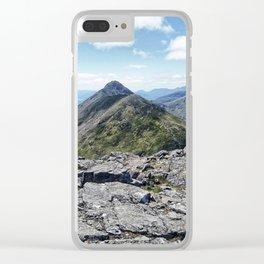 Aonach Eagach from Stob Coire Raineach Clear iPhone Case