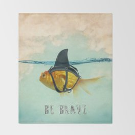 Be Brave - Brilliant Disguise Throw Blanket