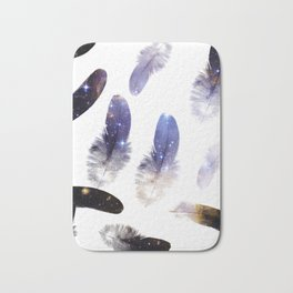 cosmic feathers Bath Mat