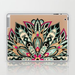 Tribal Geometric brown and green Mandala Laptop & iPad Skin