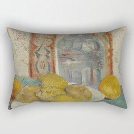 Carafe and Dish with Citrus Fruit Rectangular Pillow