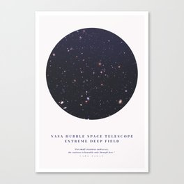 Hubble Extreme Deep Field Galaxies Canvas Print