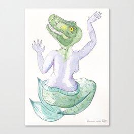 TIA T-REX #mermasaur Canvas Print