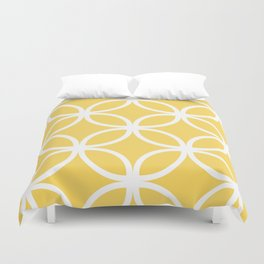 Yellow Geometric Circles Duvet Cover