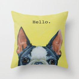 Hello. Throw Pillow