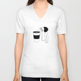 Coffee, First Unisex V-Neck