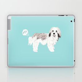 Havanese farting dog cute funny dog gifts pure breed dogs Laptop & iPad Skin
