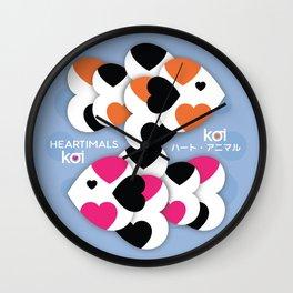 HEARTIMALS™ KOI ハート • アニマル Wall Clock