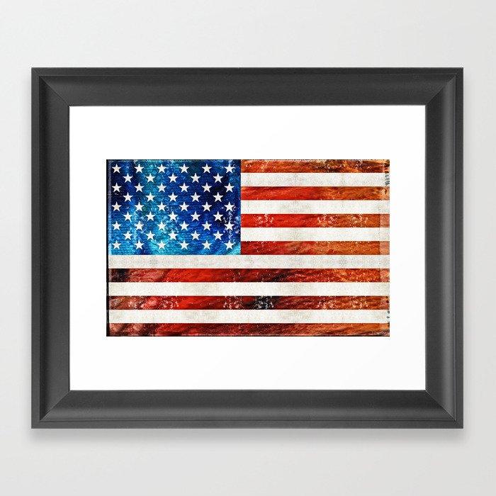American Flag Art - Old Glory - By Sharon Cummings Framed Art Print ...