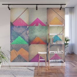 Bright Triangles Wall Mural