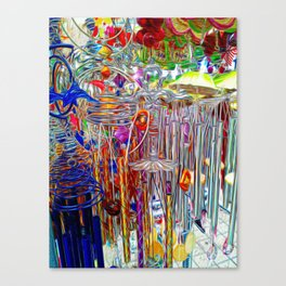 Artsy Wind Chimes #3 Canvas Print