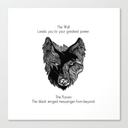 The Wolf and The Raven Canvas Print