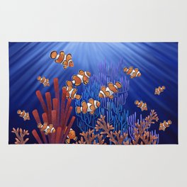 Clown Fish tank Rug