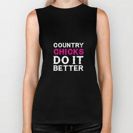 Country Chicks Do It Better Funny T-shirt Biker Tank