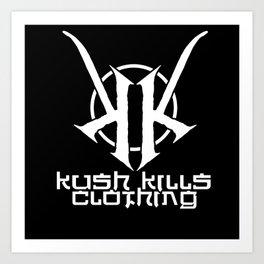 Kush Kills Circle Logo Emblem Art Print