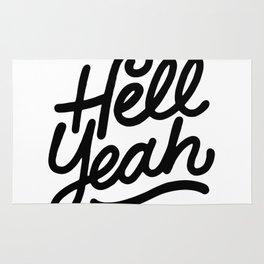 hell yeah X typography Rug