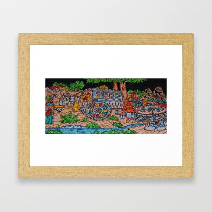 indian design2 Framed Art Print