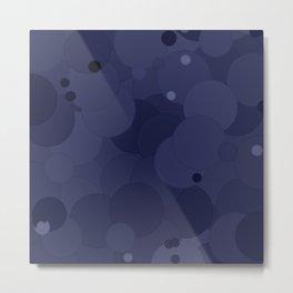 Peacoat Bubble Dot Color Accent Metal Print