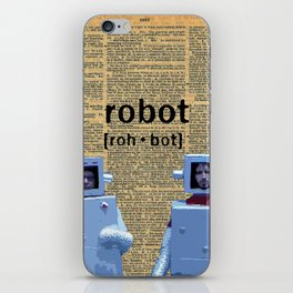 Flight of the Robots iPhone Skin