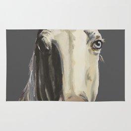 Horse Art, Grey Horse Art, Farm Animal Art Rug
