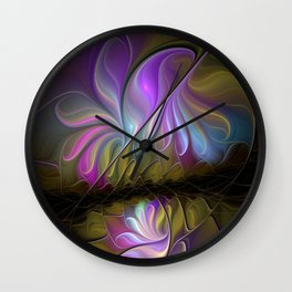 Come Together, Abstract Fractal Art Wall Clock