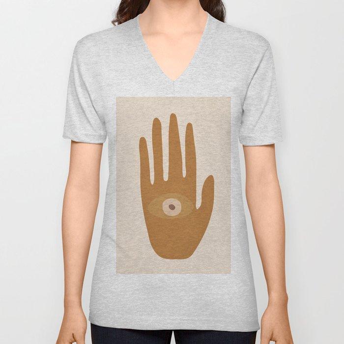 Hamsa Hand Unisex V-Neck