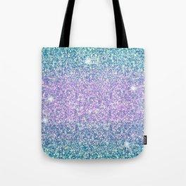 Blue & Lilac Mermaid Glitter Ombre Tote Bag
