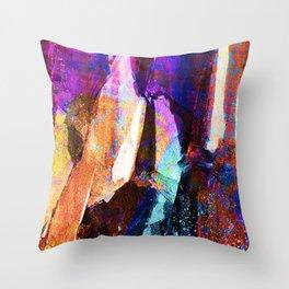 ABSTRACT NATURE // NEW ZEALAND // RAINBOW ROCKS Throw Pillow