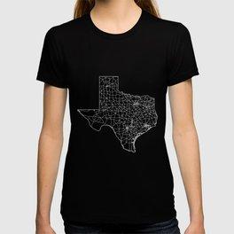 Texas Black Map T-shirt