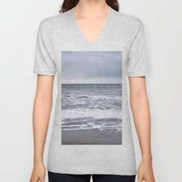 Cloudy Day on the Beach Unisex V-Neck