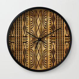 African Weave Wall Clock