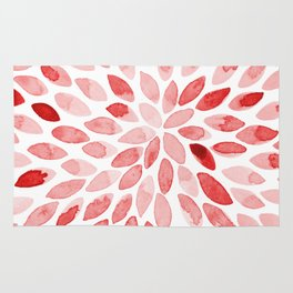 Watercolor brush strokes - red Rug