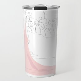 Pink Gown Oscar Red Carpet Hollywood Travel Mug