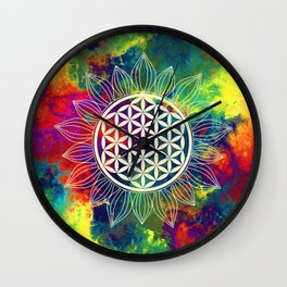 Flower Of Life (Lively World) Wall Clock