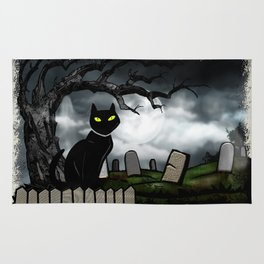 Hallows Halloween Horror Folk Art Rug