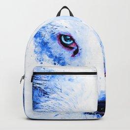 arctic fox bicolor eyes ws c80 Backpack
