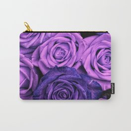 Purple Roses Carry-All Pouch